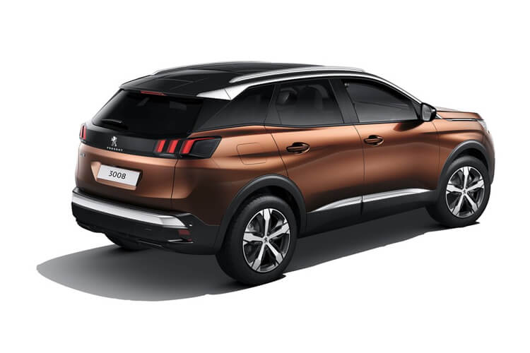 Peugeot 3008 SUV 1.5 BlueHDi 130PS GT 5Dr EAT8 [Start Stop] back view